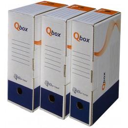 Scatola archivio QBOX in cartone riciclato, 10cm