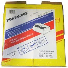POSTALBOX - SCATOLA PER SPEDIZIONI POSTALI,CARTONE A DOPPIA ONDA, FORMATO MEDIO 25x17x10cm - 1PZ
