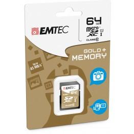 Emtec SDXC micro 64GB classe 10 adattatore incluso