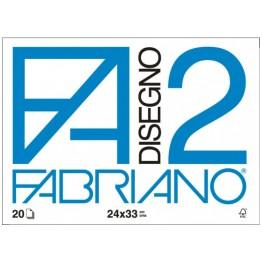 FABRIANO F2 - ALBUM DA DISEGNO LISCIO SQUADRATO 24x33cm