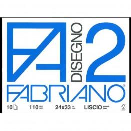 FABRIANO F2 ECO - Album da disegno liscio 24x33cm