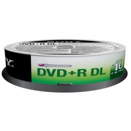 10 DVD+R DL 8.5GB con velocità 8x e durata 215min