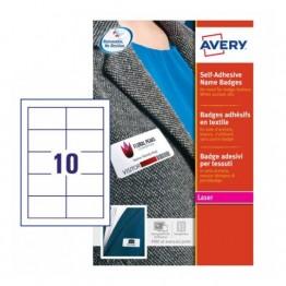 Badge adesivi in seta acetata bianco