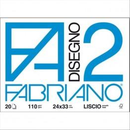 FABRIANO F2 - ALBUM DA DISEGNO RUVIDO 24x33cm