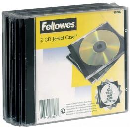Confezione jewel case per 2 CD/DVD