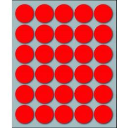 etichette adesive in fogli 125mm x 152,5mm - multiuso rotonde