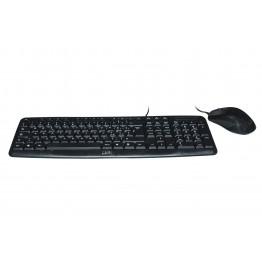 Kit tastiera e mouse con cavo USB