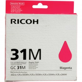 CARTUCCIA GEL MAGENTA TYPE GC31M PER AFICIO GX E3300N/3350N (1.560PG) 1PZ