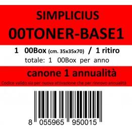 00TONER-BASE1, Canone ritiro di 1 box 1 volta l'anno