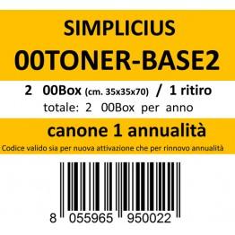 00TONER-BASE2, Canone ritiro di 2 box 1 volta l'anno