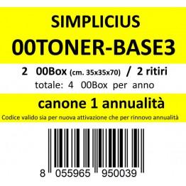 00TONER-BASE3, Canone ritiro di 2 box 2 volte l'anno