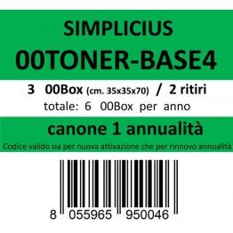 00TONER-BASE4, Canone ritiro di 3 box 2 volte l'anno