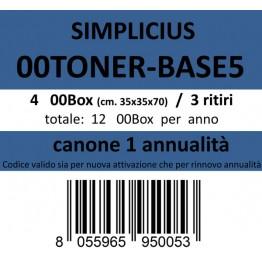 00TONER-BASE5, Canone ritiro di 4 box 3 volte l'anno