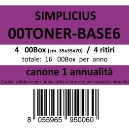 00TONER-BASE6, Canone ritiro di 4 box 4 volte l'anno