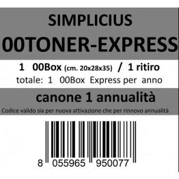 00TONER-EXPRESS, Canone ritiro di 1 box 1 volta l'anno